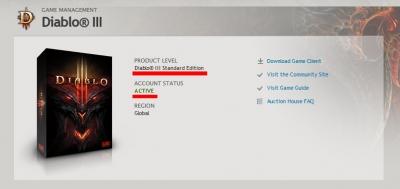 Аккаунт с Diablo 3.