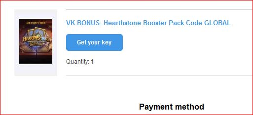 Hearthstone Booster Pack Code