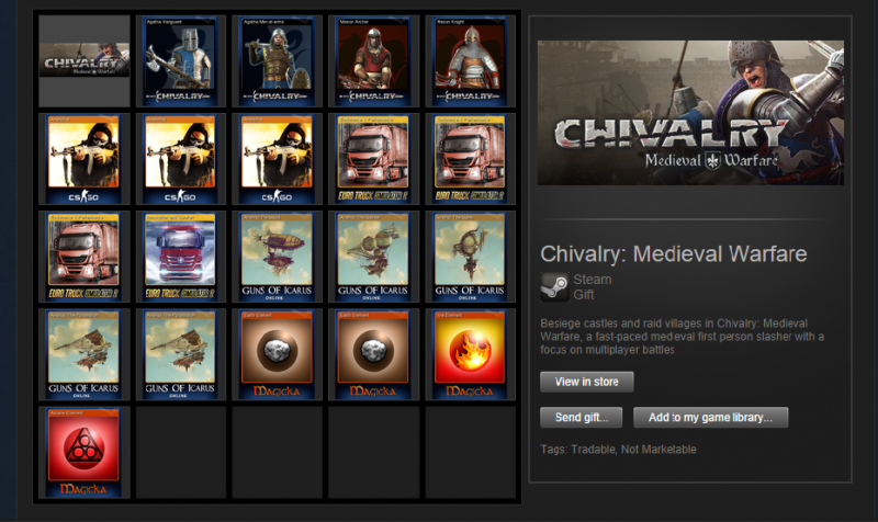 Обменяю ключ Chivalry: Medieval Warfare  на 2 ключа с Sid Meier's Civilization 5 с доплатой