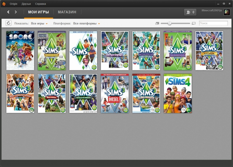 Аккаунты Origin: The Sims 4, Dragon Age II, Battlefield 3, Warp, Alice: Madness Returns