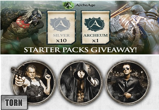 Torn, ArcheAge Giveaway Packs