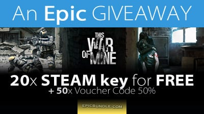20x STEAM keys - This War Of Mine