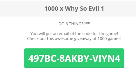 Why So Evil Free Steam Key