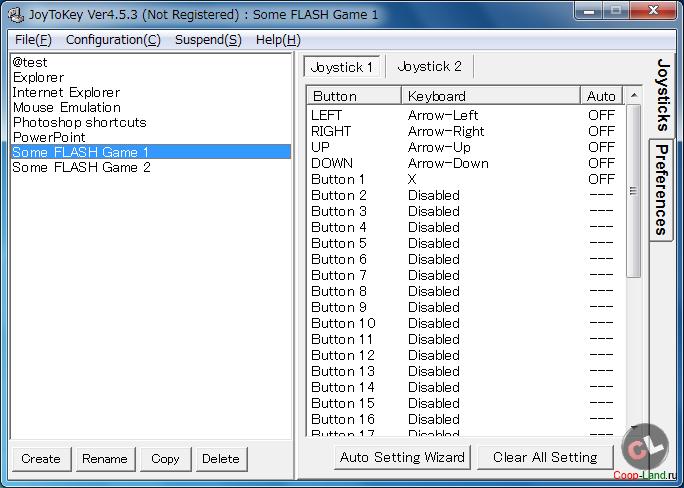 JoyToKey - программа эмуляции клавиатуры с геймпада / скачать бесплатно