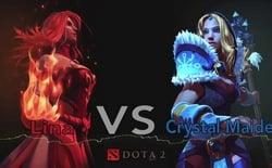 Lina VS Crystal Maiden: Две сестры - Две проказницы