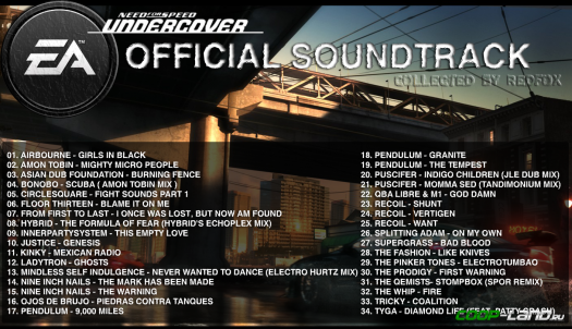 Музыка из Need for Speed: Undercover (Soundtrack)