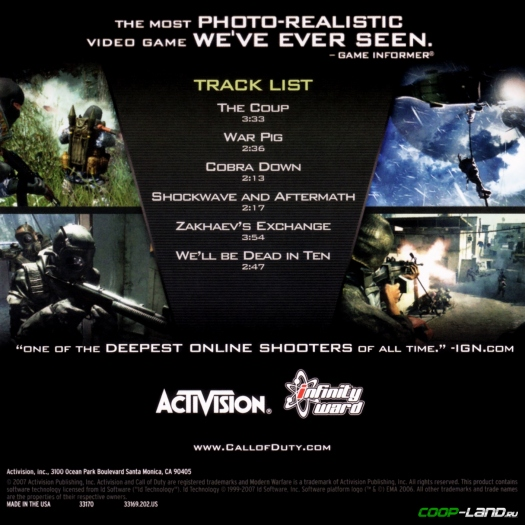 ������ �� Call of Duty 4: Modern Warfare (Original Soundtrack Simple)
