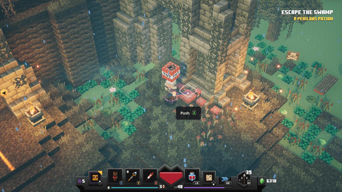 Как открыть секретную локацию в Minecraft Dungeons
